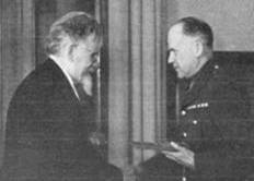 1947 A H Birse receives medal from president Kalinin MBM-Au47P37.jpg