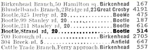 1938 Phone Book entry BT
