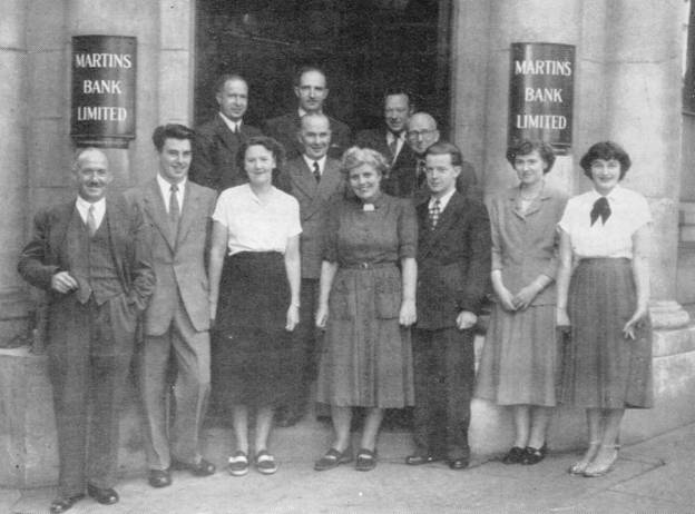 1950 Douglas Staff outside Branch MBM-Au50P49