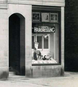 1960 s Northenden Exterior Gents Hairdressing next door BGA Ref 30-2088