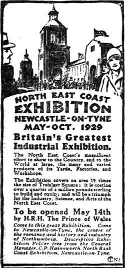 1929 08-APR NECE Advert Evening telegraph