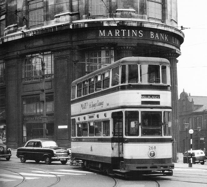 1950 ish West Street Branch Exterior - Sheffield Trams Book 1995