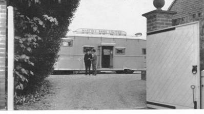 1966 Exterior view of Branch Caravan through manor gates MBM-Au66P37.jpg