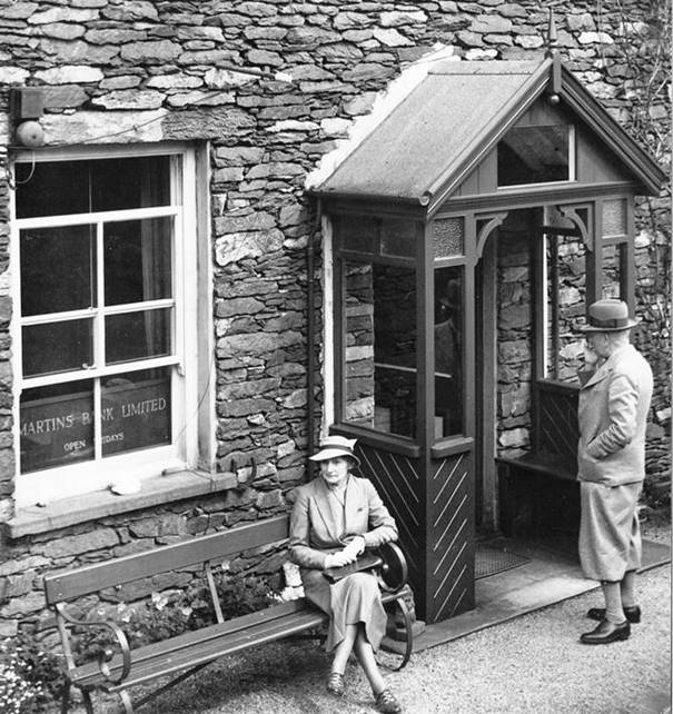 1937 Glenridding Exterior lady sat on bench BGA Ref 38-228.jpg
