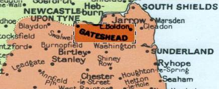 1968 Gateshead Map Geographia 4CB2