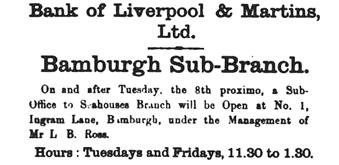 1924 JUL 03 Berwick Advertiser Opening of Bamburgh Sub  BOLM BNA