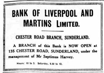 1923 AUG 09 Sunderland Echo opening of BOLM Sunderland Chester Road BNA