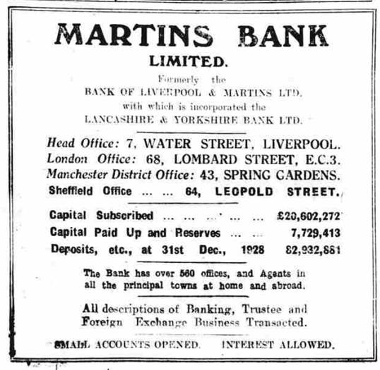 1929 JAN 30 Sheffield Independent Ad for 64 Leopold Street - BNA