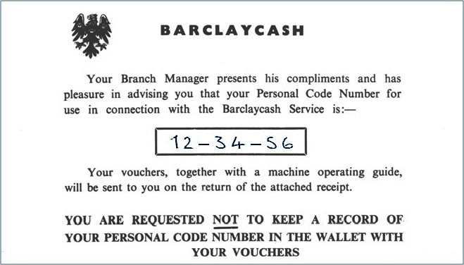 Barclayscash Personal Number
