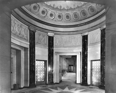 1952 The right arcade in the banking hall Original Photo MBA.jpg