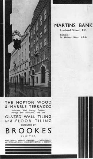 1931 Brookes Ltd Advert in TAJ for 68 Lombard Supplies